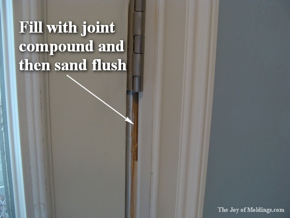 how to paint classical door trim moldings