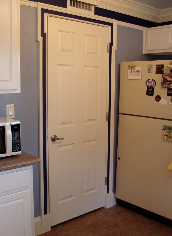 white painted door trim molding