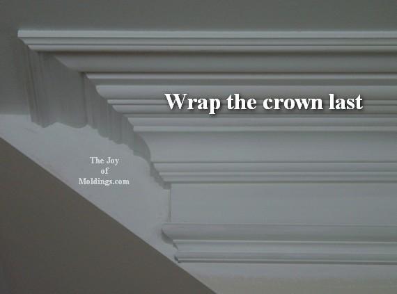 large crown molding return diy