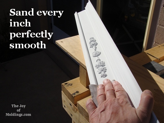 how to sand a valance box