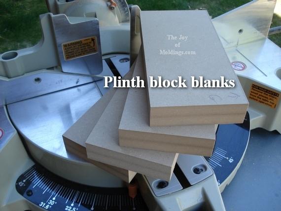plinth block blanks