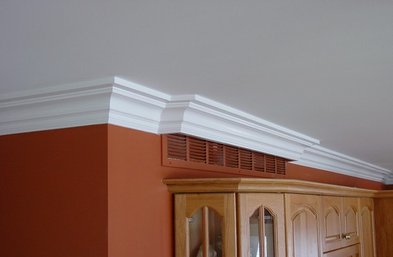 crown molding around air vent
