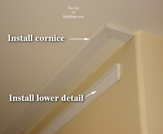 diy crown molding buildup