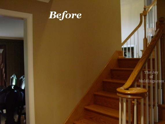wainscoting on stairs oak