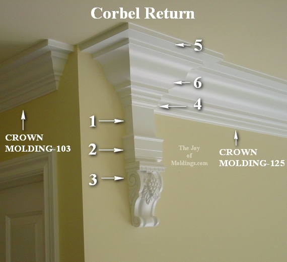 corbel large crown molding buildup