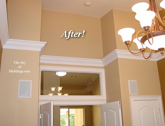 diy how to instal crown molding in home office