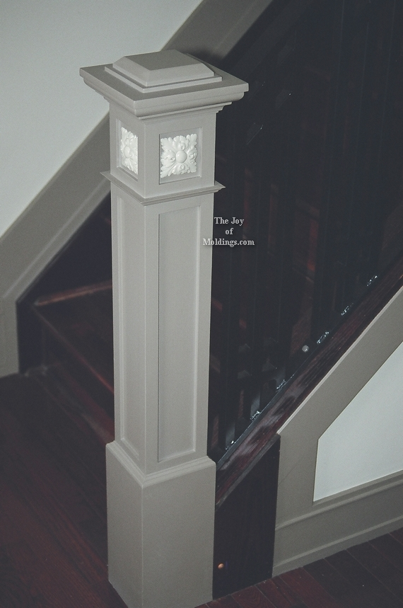 newel post craftsman style diy painted
