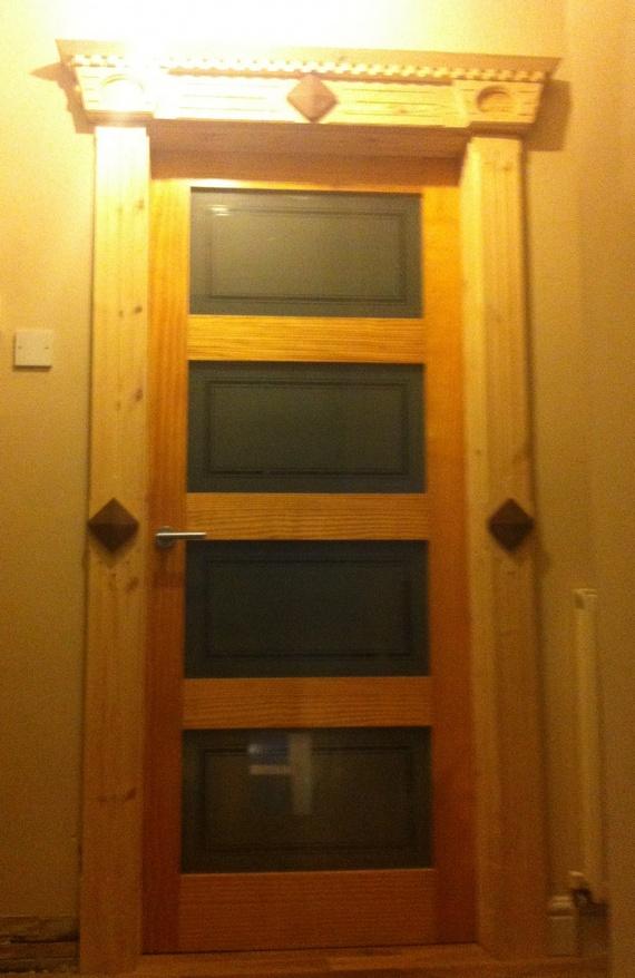 front door moldings red pine