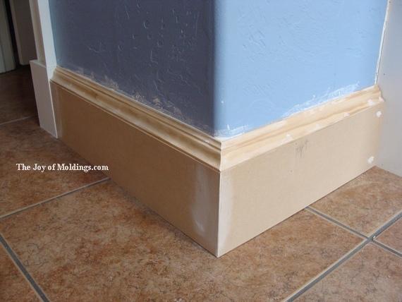 large kitchen baseboard molding
