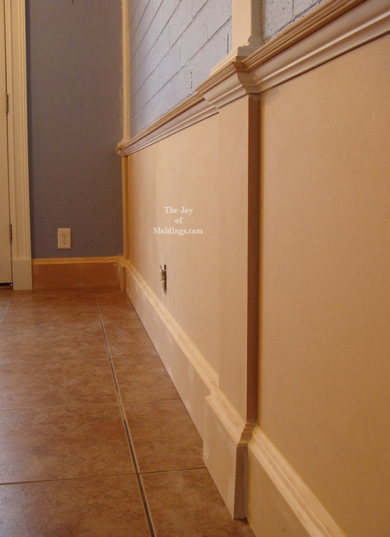 Beffore and after wainscoting pictures