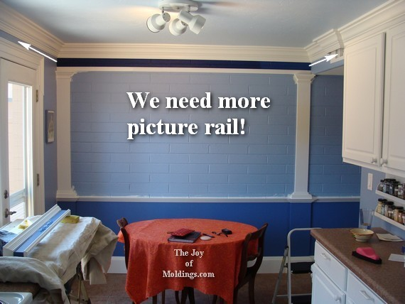 how to paint moldings on brick wall