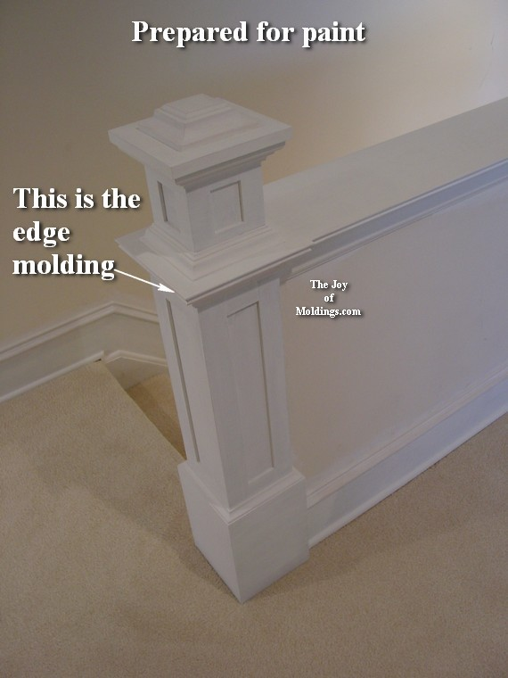 how to paint a Victorian newel post