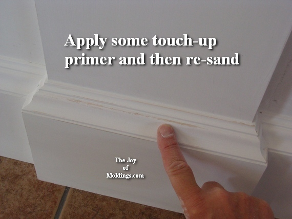 how to paint moldings