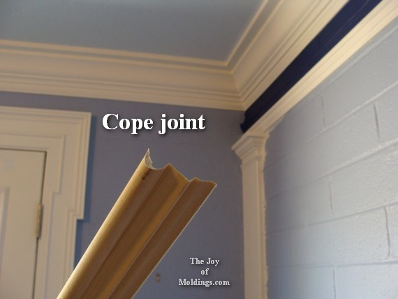 how to cut a cope joint in picture rail molding