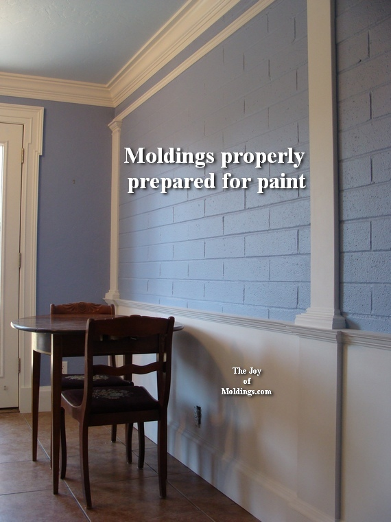 how to paint kitchen moldings