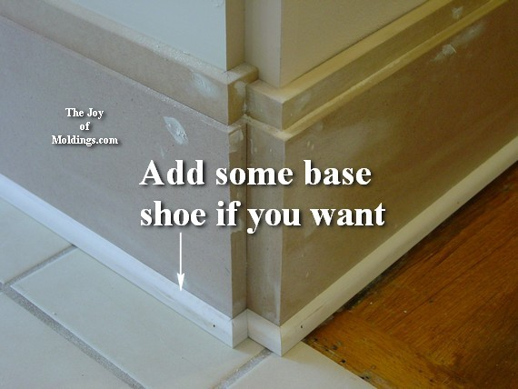large baseboard with base shoe molding