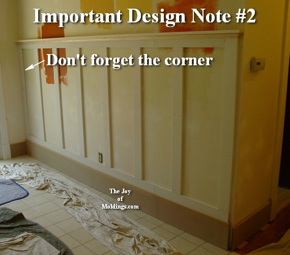 how to plan the spacing of wainscoting panels