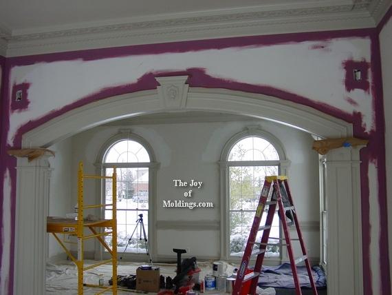 interior home diy mdf archway