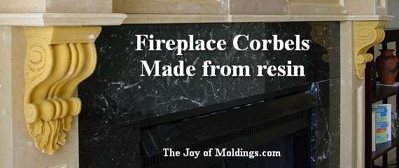 fireplace with corbels