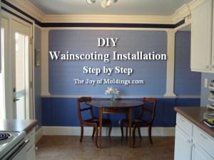 install wainscoting on brick wall