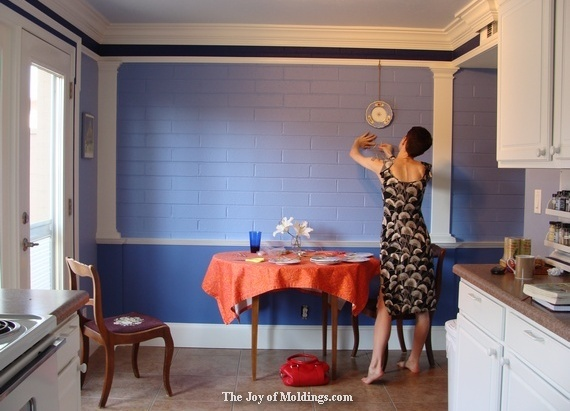 how to hang decorative plates on brick wall