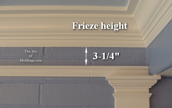 how much space picture rail molding below crown molding