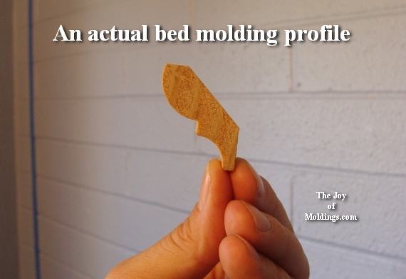bed molding profile for wainscoting