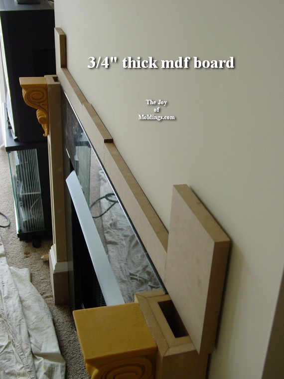 how to make an mdf fireplace mantel