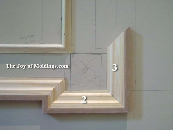 how to install wall moldings