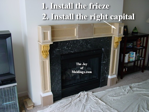 fireplace mantel made from mdf with corbels