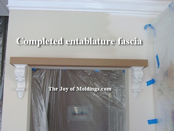 how to install corbels on doorway or archway