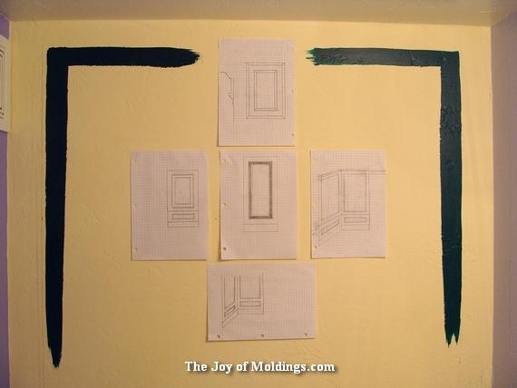 powder room molding ideas