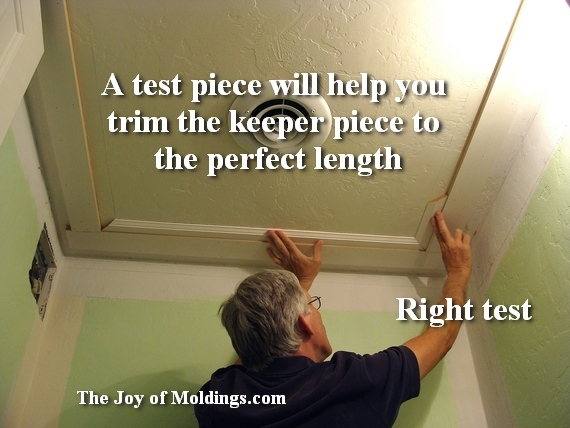 large moldings in small room