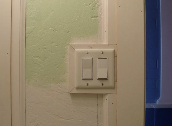 door trim next to light switch