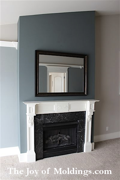 fireplace mantel for townhouse condo