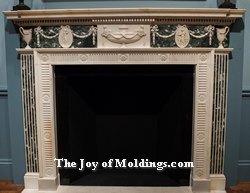antique fireplace mantel