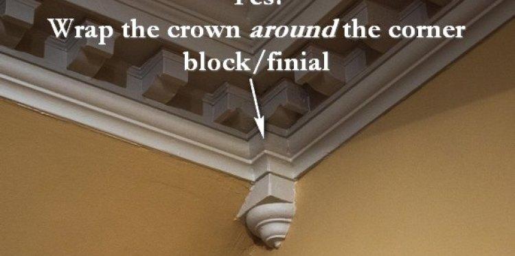 crown molding corner block