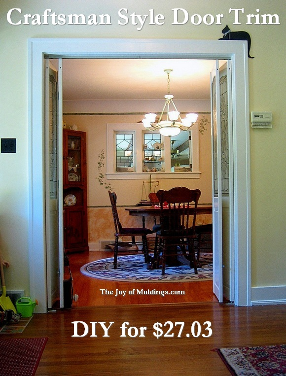 craftsman style door trim molding
