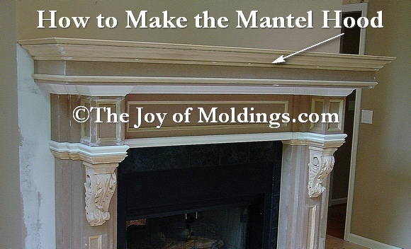 fireplace mantel hood
