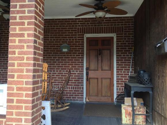 before front door trim