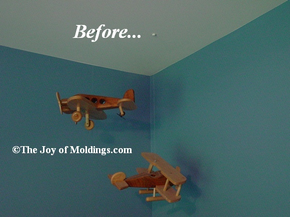 before crown molding