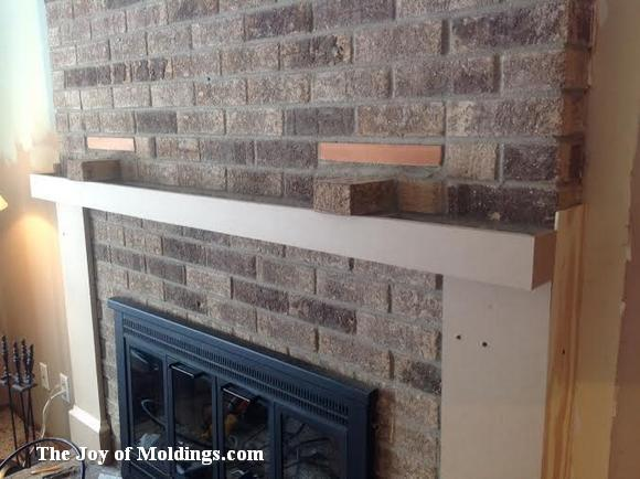 brick fireplace renovation