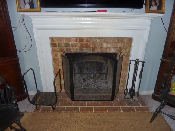 fireplace befor