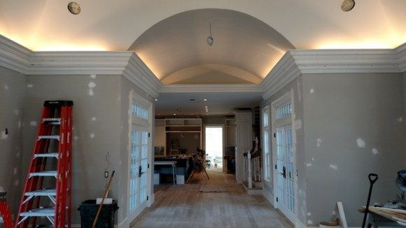 great room crown molding