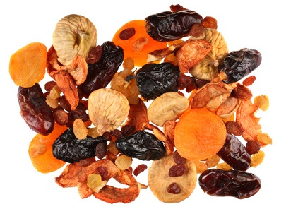 Mix dry fruit isolated on white background