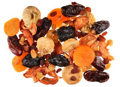 Mix dry fruit isolated on white background