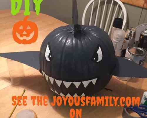 avoid painted pumpkin mistakes spray paint shark batman