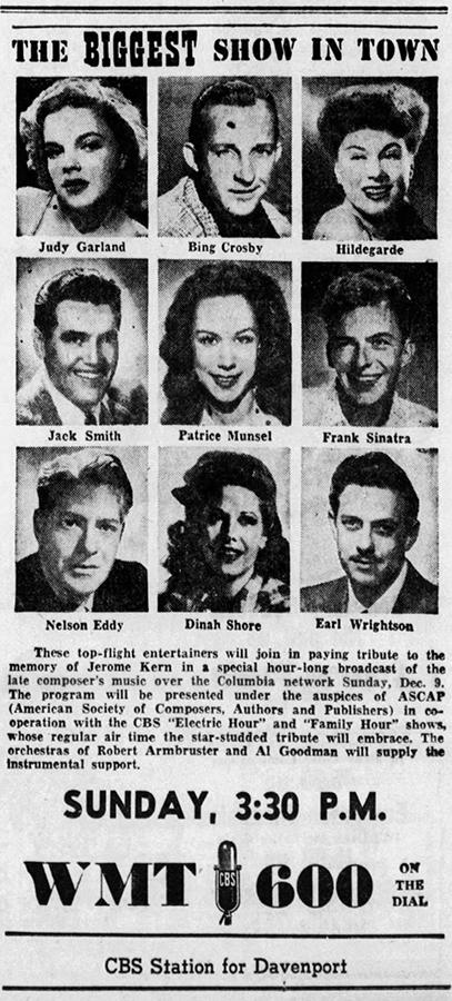 Judy Garland Jerome Kern Tribute