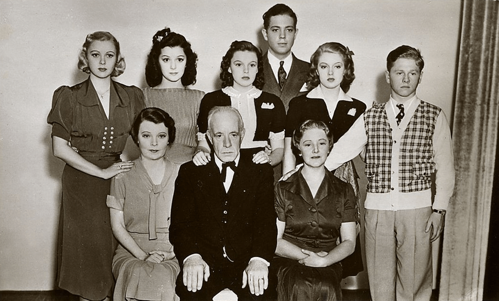 """The cast of """"Love Finds Andy Hardy"""""""