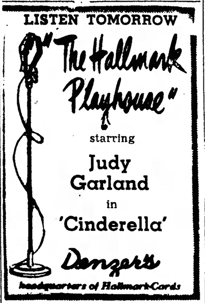 Judy Garland in Cinderella on the radio